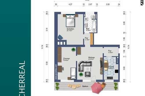 3,5 Zimmer mit Südbalkon - provisionsfrei alles inklusive - ab 1. Dezember