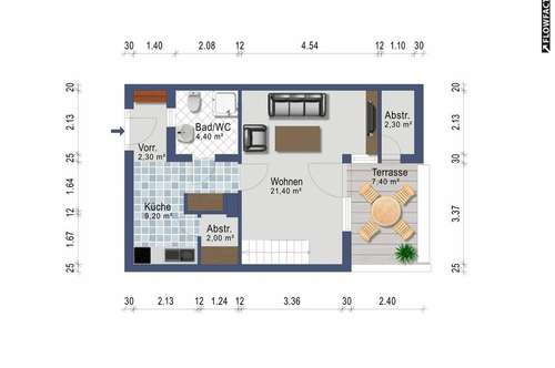 Wohngalerie mit Dachterrasse - ab Jänner - Heizkosten inklusive