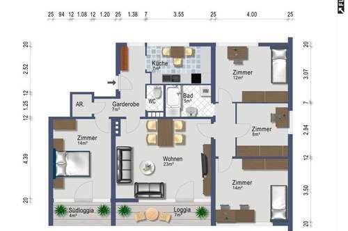 Familiendomizil - 5 Zimmer - Südbalkon - provisionsfrei ab 1. August 2019