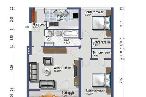 3-Zimmer mit Südbalkon - provisionsfrei - ab Juni 2019