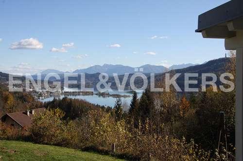 Beeindruckende Panoramalage mit See-und Karawankenblick