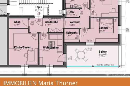 4-Zimmer-Neubauwohnung mit großen Balkon