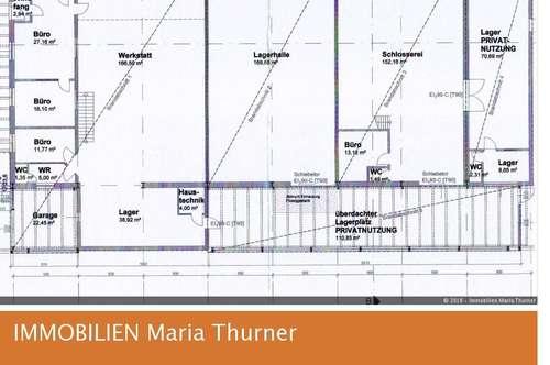 Betriebsobjekt mit Hallen, Wohnungen und Nebenflächen