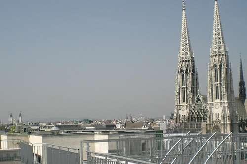 Dachgeschossmaisonette mit Blick über Wien
