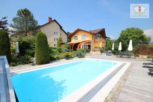 Sehr hochwertiges, junges Haus in Feldkirchen mit traumhaften Park, Garten und wunderschöner Poollandschaft