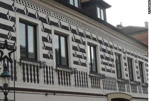 3400 Klosterneuburg, Altbauwohnung im Biedermeierhaus, 56m2, 2 große Zimmer plus Vorzimmer, Bad, begehbare Garderobe, Euro 698,50 inkl. BK/10%