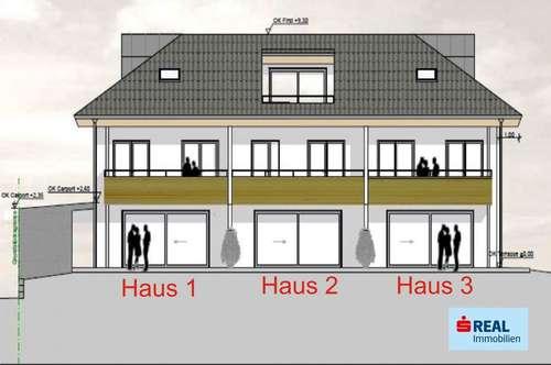 In St. Johann gelangen drei neu zu errichtende Reihenhäuser zum Verkauf