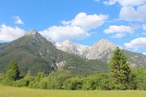 Grundstück in traumhafter Lage mit Blick auf die Loferer Steinberge