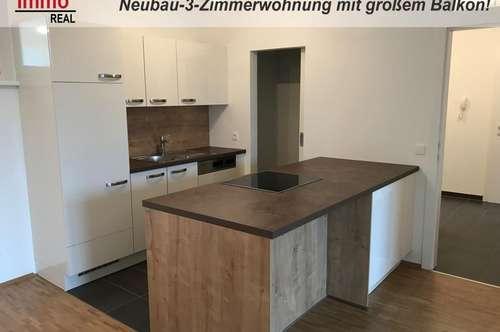 Erstbezug! Neubau-3-Zimmerwohnung mit 14m² großen Süd-Balkon in Gösting!