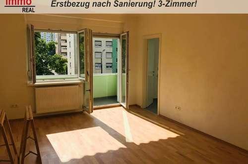 3-Zimmerwohnung in Eggenberg mit Westbalkon! Erstbezug nach Sanierung!