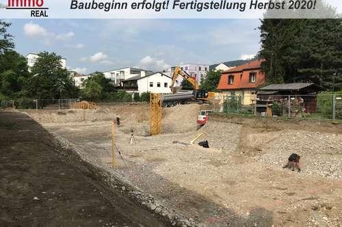 BAUBEGINN ERFOLGT! Provisionsfrei für den Käufer! Neubauprojekt 3-Zimmer-Terrassenwohnung, Lend, Mur Nähe, Ruhelage!