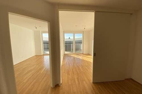 JETZT ZUGREIFEN! 2-Zimmer-Neubauwohnung mit großem WEST-Balkon in Liebenau nähe Stadion!