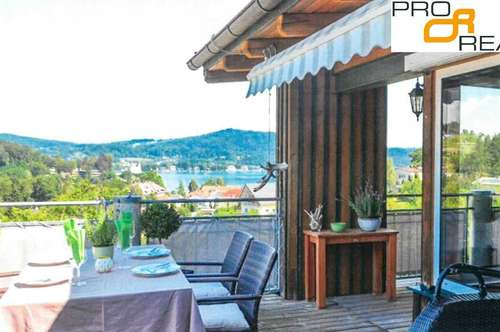 Wörthersee Seeblick: Familienresidenz Penthouse in Reifnitz
