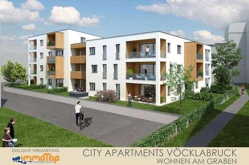 """Garconniere mit Garten im Zentrum von Vöcklabruck - im neuen Wohnbau """"CITY-APARTMENTS"""""""