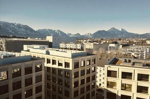 Zentrale Büroräumlichkeiten mit Ausblick in Salzburg