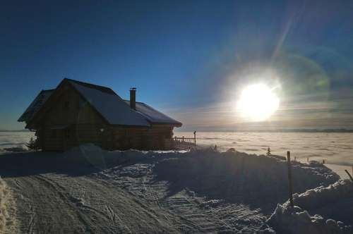 Beautiful natural log house with panoramic view on HOCHRINDL / Carinthia