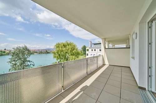 ERSTBEZUG: Balkon-Eckwohnung mit Seeblick   4 Zimmer, zentral begehbar   inkl. Heizung/WW & PKW-Stellplatz **Wörthersee-Feeling** VIRTUELLE 360-GRAD-BESICHTIGUNG!