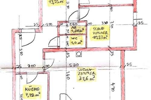 3 Zimmer Whg mit Garten und Garagenplatz, ebenerdig