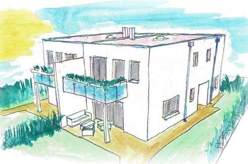 ruhige Siedlungslage, große TERRASSE, Balkon und Garten!