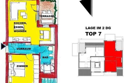 Dachterrassenwohnung / Penthouse / Südterrasse / Bad mit Fenster
