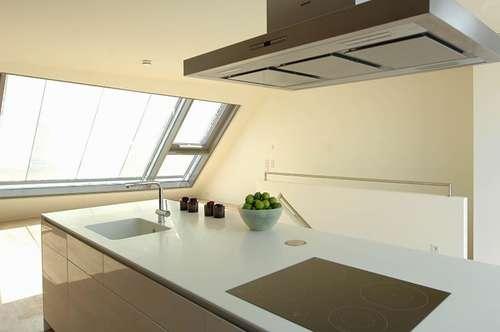 Exklusive Architektur! Terrassen-DG-Wohnung mit viel Liebe zum Detail!