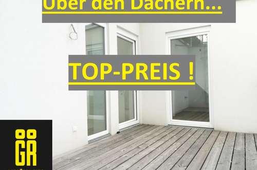 Fantastischer Ausblick - TERRASSE - Offener und Heller Wohn-Essbereich - EXKLUSIVE DACHGESCHOSSWOHNUNG - 4 Zimmer - 2 Ebenen - LIFT - U-Bahn Nähe - Top 38