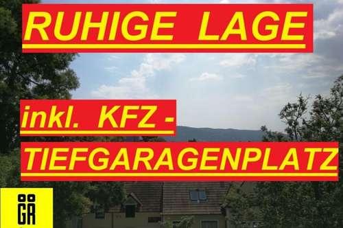 RUHIGE BEZUGSFERTIGE Dachgeschoßwohnung - BLICK AUF DEN KAHLENBERG und BISAMBERG - Terrasse - große Wohnküche - Lift - TIEFAGARAGENPLATZ - neue Küche