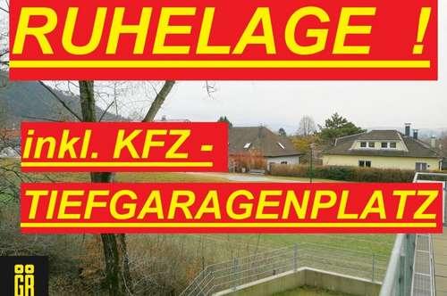 HELLE 2-Zimmer Wohnung in RUHELAGE in Bisamberg - Nähe Zentrum - wie ERSTBEZUG - inkl. TIEFGARAGENPLATZ - großer SÜD OST WEST BALKON