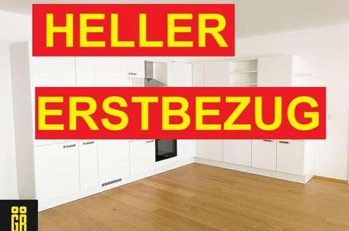RUHIGER und HELLER ERSTBEZUG - BEZUGSFERTIGE 2 Zimmer Wohnung - komplette Küche - LOGGIA - inkl. GARAGENPLATZ - ZENTRALE TOP LAGE KORNEUBURG - 37 m² GROSSE WOHNKÜCHE