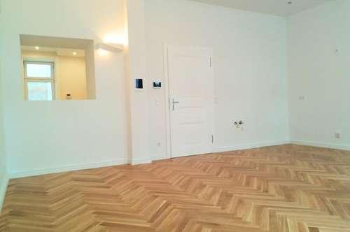 ALTBAU ERSTBEZUG - 4 Zimmer ALTBAU top saniert - Maisonette Hochparterre und Souterrain - 1030 Wien ------ U Bahn Nähe - LOGGIA und TERASSE - Schlafzimmer Hofseitig