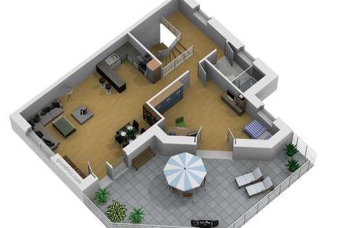 NEUBAUPROJEKT: Sonnendurchflutete 3-4 Zimmer-Penthousewohnung