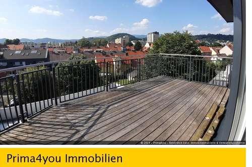 Modernes ruhiges Penthouse nahe Grazer Schloßberg mit Terrasse