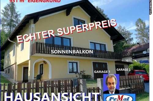 *WERTKAUF in 3911 RAPPOTTENSTEIN mit BLICK zur BURG /PANORAMAFERNSICHT grosszüg. LANDHAUSARTIGES TOP-EINFAMILIENHAUS WNFL: 226 m² (EG+1.STOCK) +DACHGESCHOSS +SONNENTERRASSE +SONNENBALKON +2 GARAGEN TOPZUSTAND Sofortbezug 951 m² EIGENGRUND HBJ 1970 /HWSF