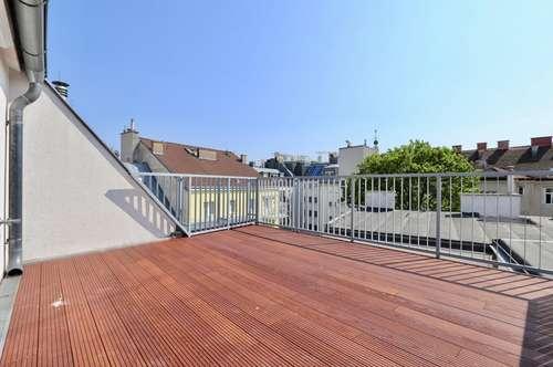 Dachgeschoß-Maisonette mit Süd-Terrasse nächst Schubertpark!