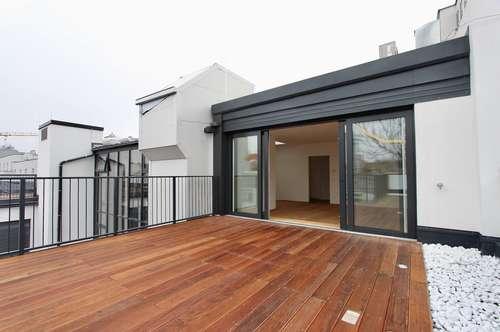 Penthouse-Flair! moderne Terrassenwohnung auf einer Wohnebene