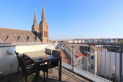 PENTHOUSE-DACHTERRASSEN-TRAUM nächst Familienplatz mit Luxus-Designer-Ausstattung!