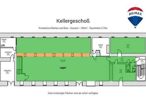 Die Klammühle -  hier gibt es viele Möglichkeiten - Kellergeschoss mit ca.345,65m² Fläche