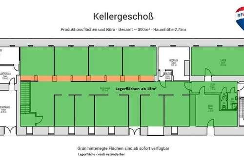 Lagerflächen in der Klammühle zu mieten - Kellergeschoss ab 15m²