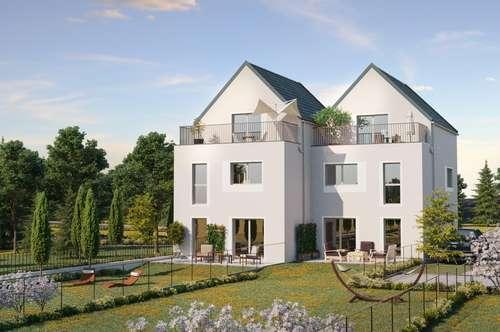 Ziegelmassives modernes Doppelhaus, exklusive Lage in Langenzersdorf, gute Infrastruktur