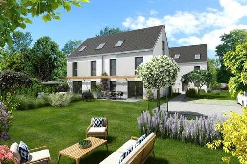 Modernes Doppelhaus nur 400m zur UBahn (U1), mit großem Garten, Baurechtsgrund