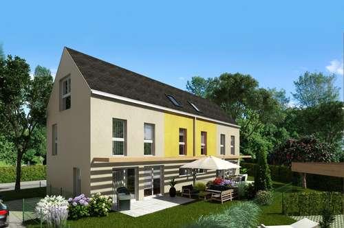 Modernes Doppelhaus in Wien-Essling mit Garten, in herrlicher Ruhelage, Fernblick