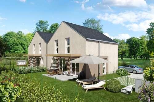 Doppelhaus in absoluter Ruhelage in den Weingärten von Sooß, in ziegelmassiv Bauweise