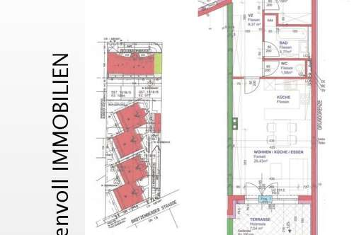 Terrassenwohnung Provisionsfrei Erstbezug mit Garagenplatz