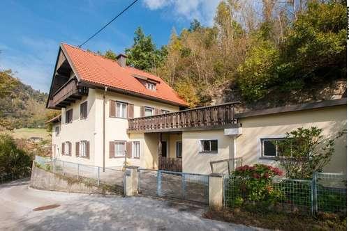 Familienwohnhaus mit großem Gartengrundstück in Klein St. Veit