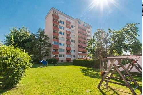 Sonnige Dreizimmerwohnung mit traumhaftem Blick über Klagenfurt
