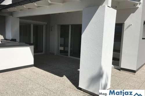 Loftartige 2 Zimmer Neubau-Penthousewohnung mit Riesenterrasse und unverbaubarem Karawankenblick!