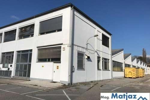 Gewerbeliegenschaft mit Bürogebäude, Hallen und Parkplätzen!