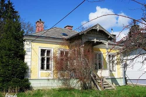 Große, sonnige Liegenschaft mit sanierungsbedürftiger Villa