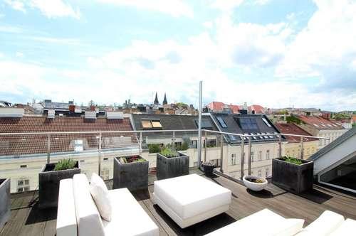 Größzügige Dachgeschosswohnung mit Sonnenterrassen nahe Kutschkermarkt