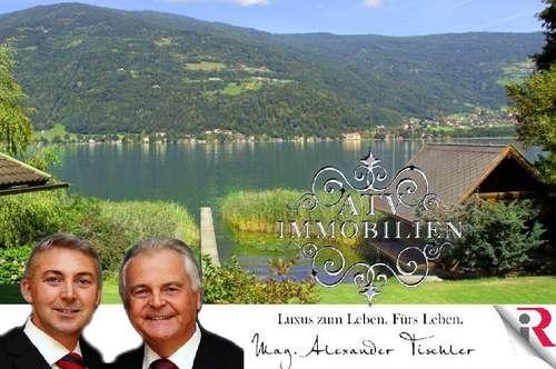 Ossiachersee: Romantische Seeliegenschaft mit Seehaus u. Bootshaus